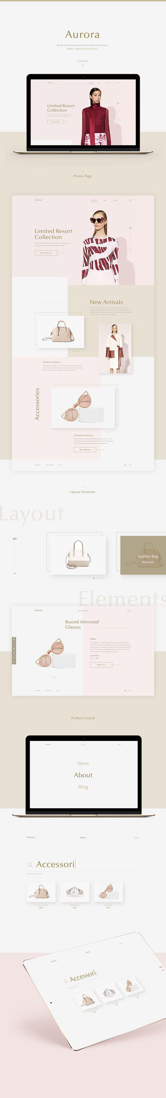 White, pink and cream color scheme, web color scheme 2017