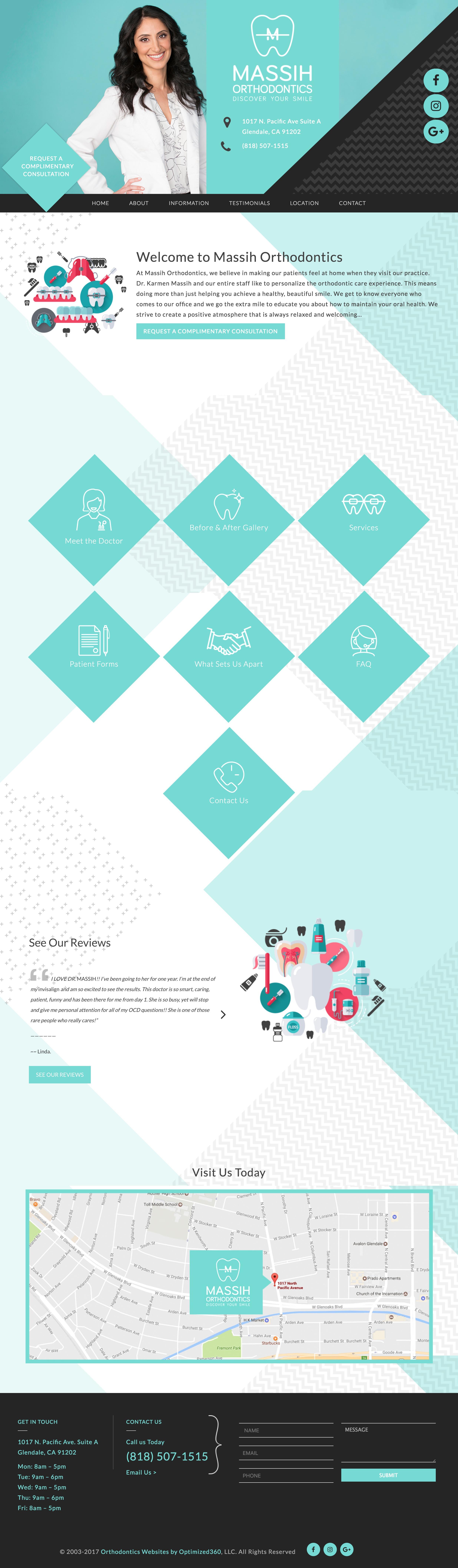 Medical Web Design Inspiration- Dental
