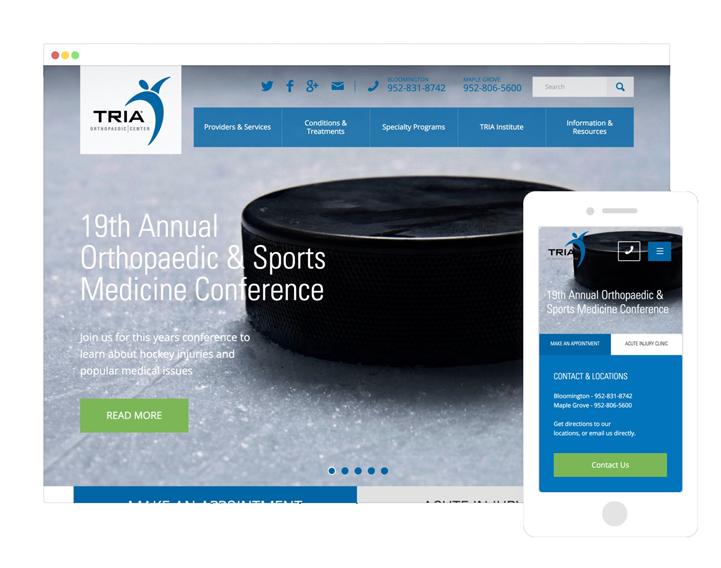 Health and medical web design