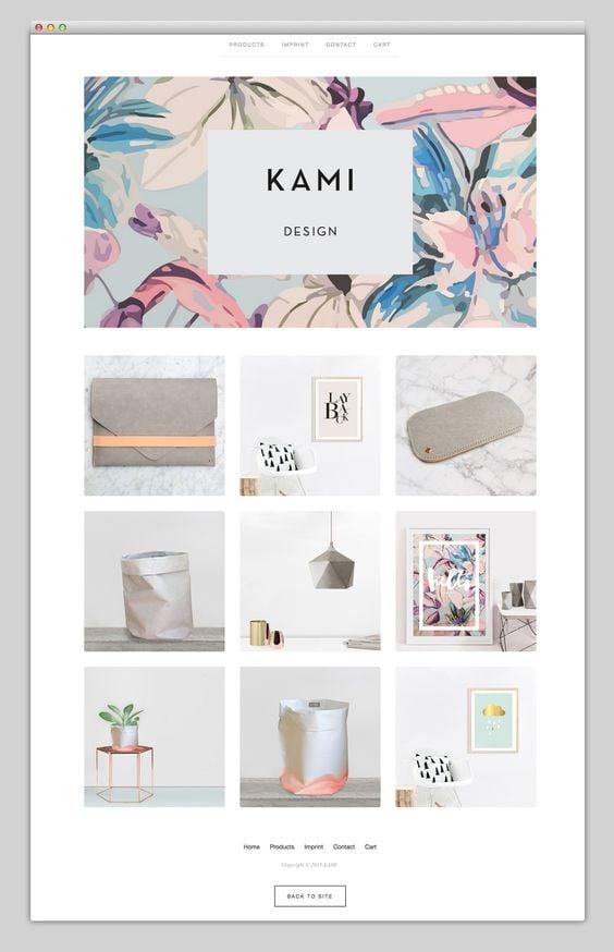 Kami Website Design