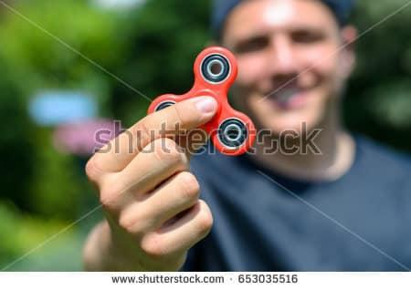 Fidget Spinner stock image