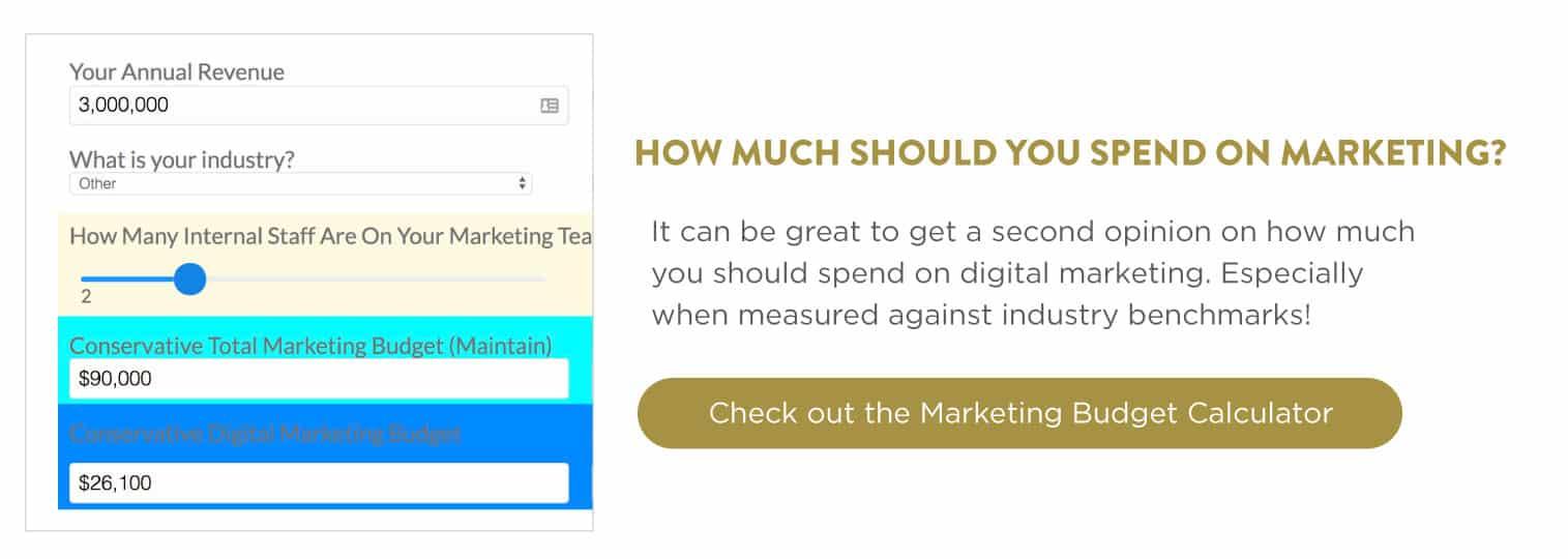 Marketing Budget CTA