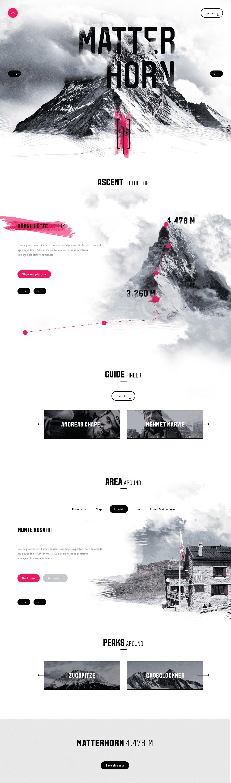 Matterhorn Website Design Inspiration