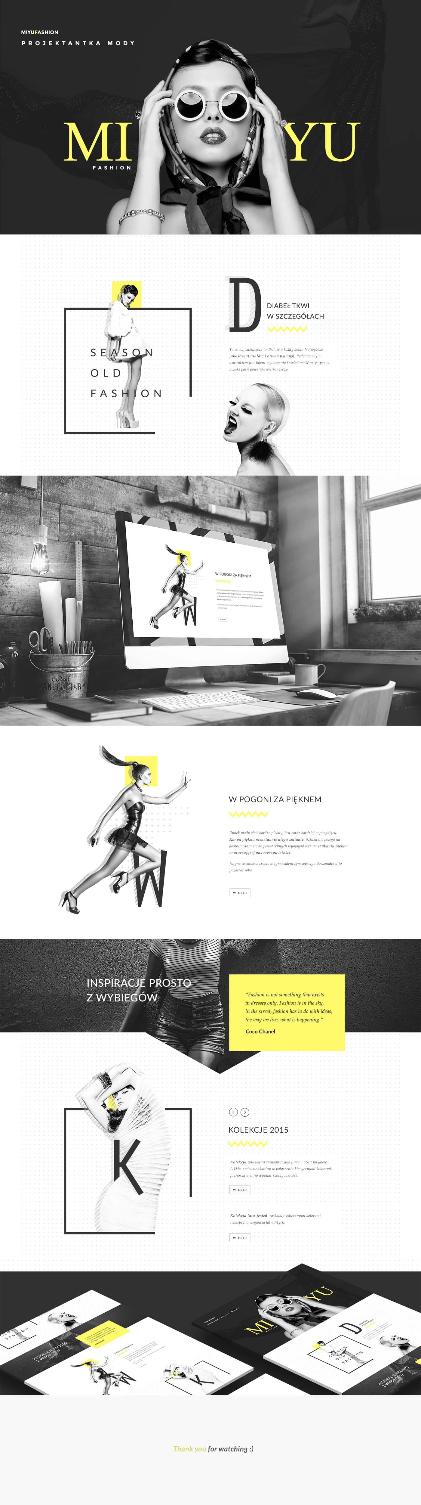 Miyu Fashion Website Inspiration