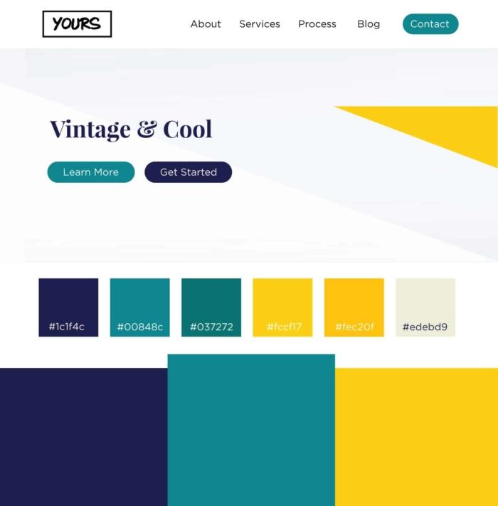 Vintage Cool Color Palettes
