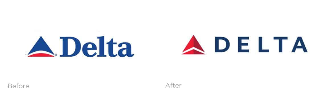 Delta Logo Refresh examples