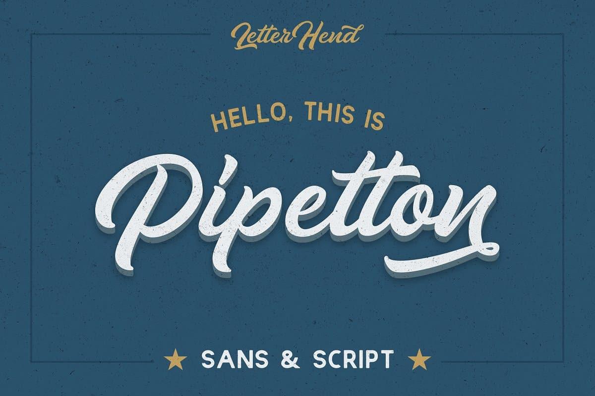 Pipetton - Script Font