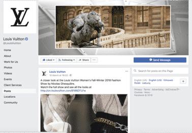 Louis Vuitton Facebook Page
