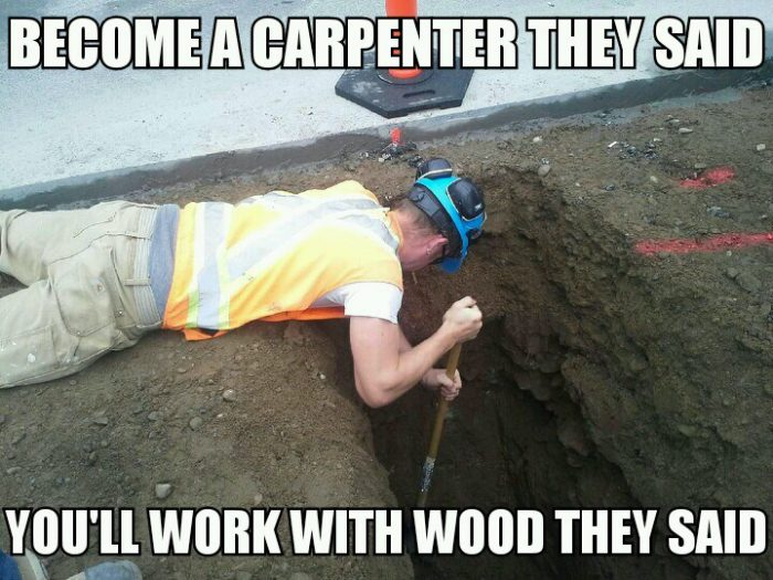 Become a carpenter meme