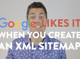 Google likes it when you create an XML Sitemap