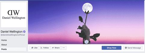 Daniel Wellington Official Facebook page
