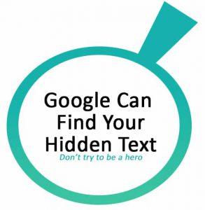 Google-Hidden-Text