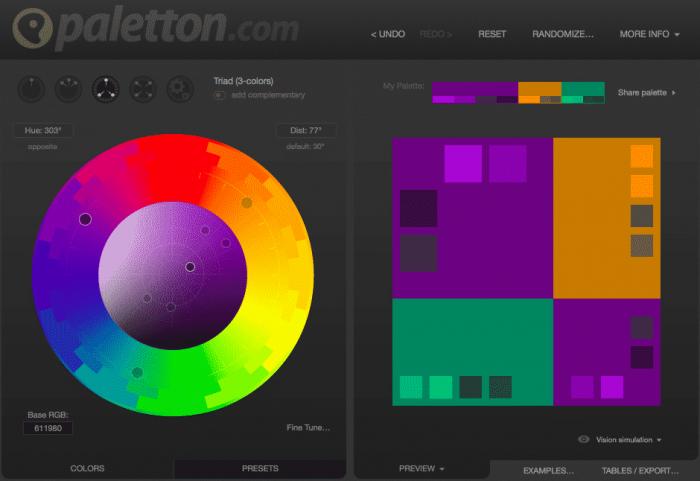 Paletton-colors