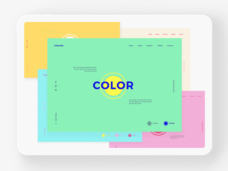 Unusual Color Palette for Websites