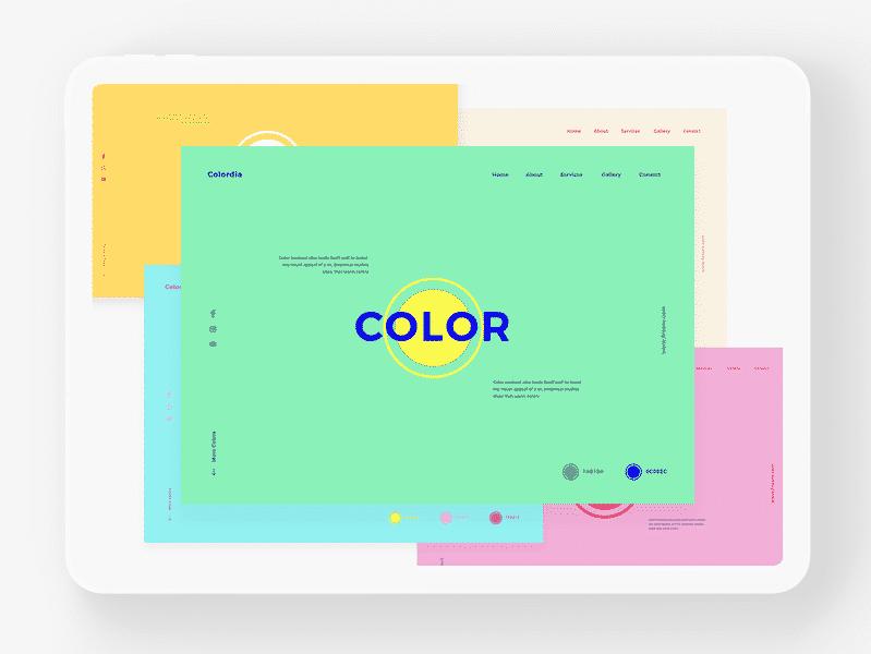 Unusual Color Palette for Websites