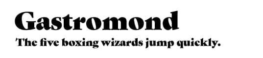 gastromond-serif-font