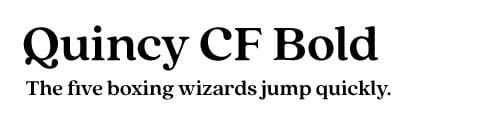 quincy-cf-bold-font