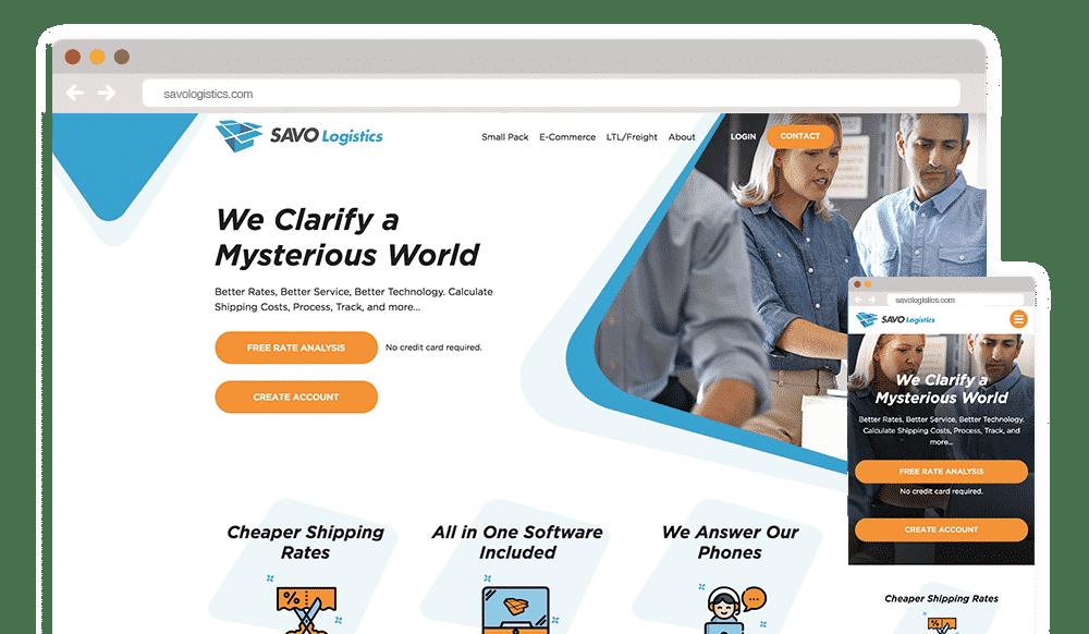 Savo Logistics Website Redesign