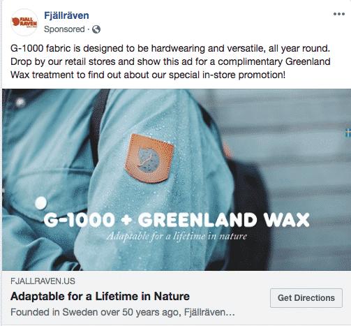 fjallraven facebook ad