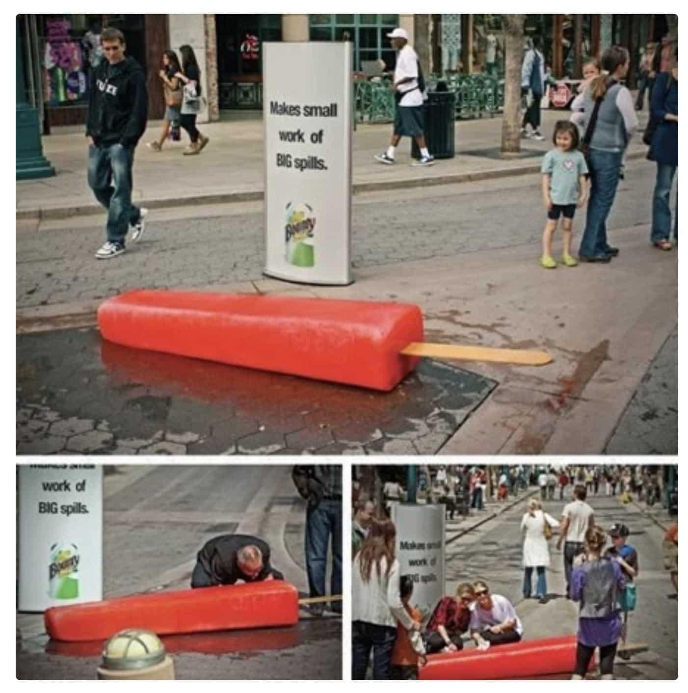 Bounty Guerilla Marketing - big popsicle streets of new york