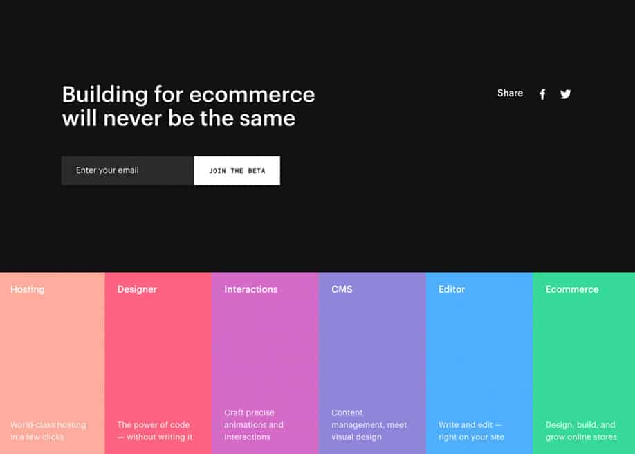 Colorful Footer Design