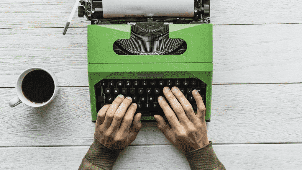 Green Typewriter- How long is 100 words visually.