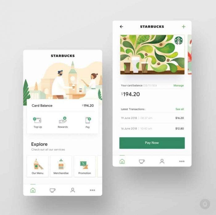 starbucks luxury web design