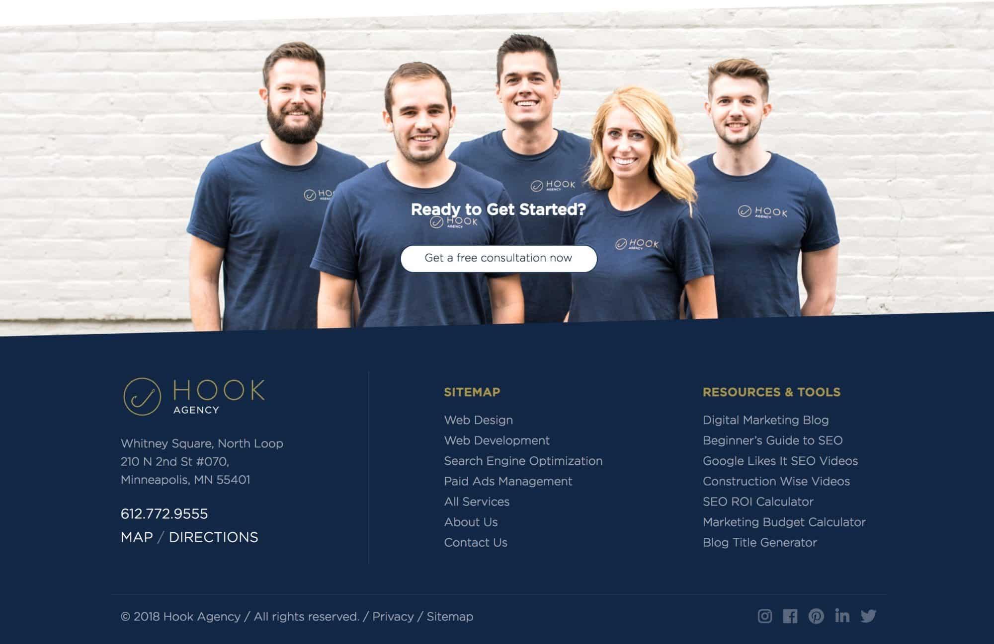 Hook Agency - Agency Footer Design Inspiration