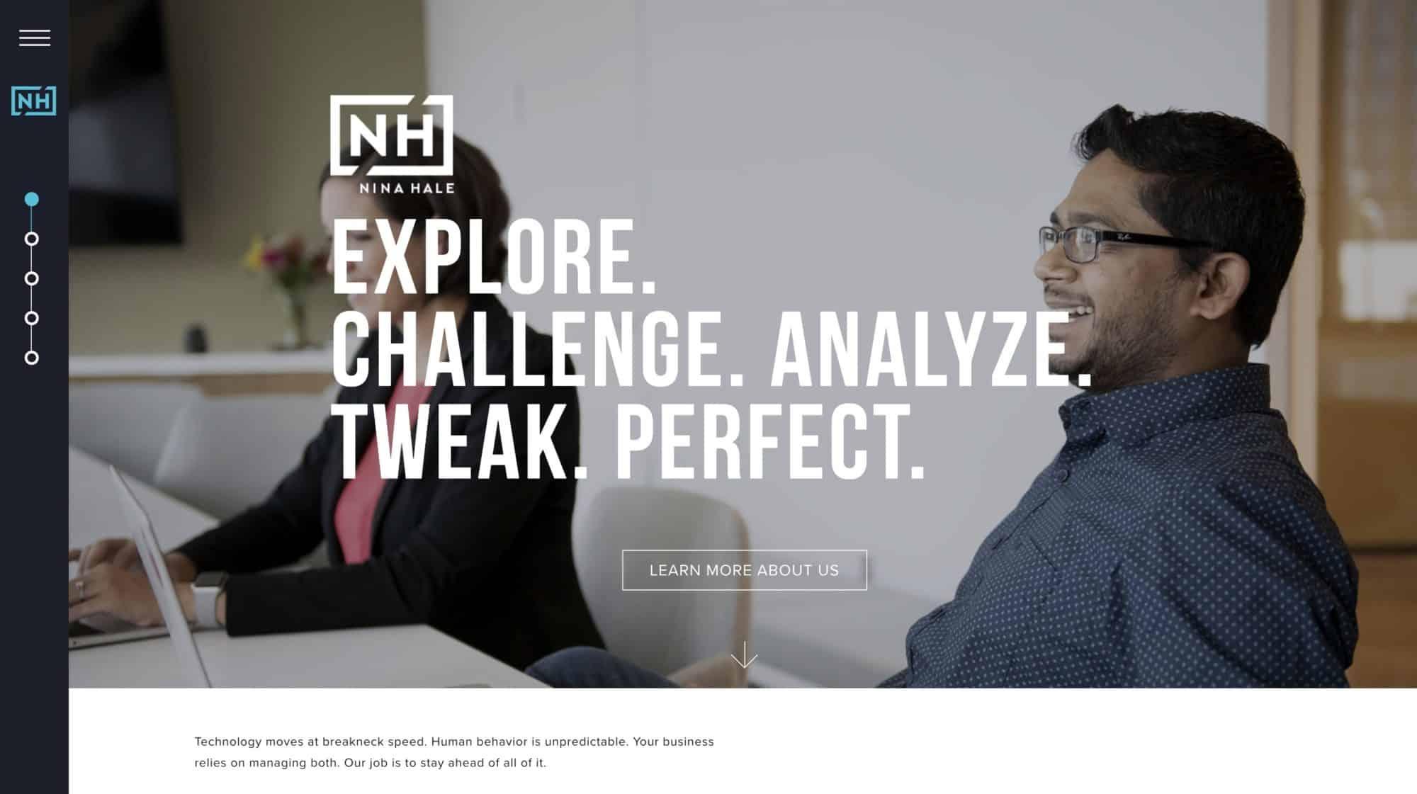 Nina Hale - Digital Marketing Agency Website Inspiration