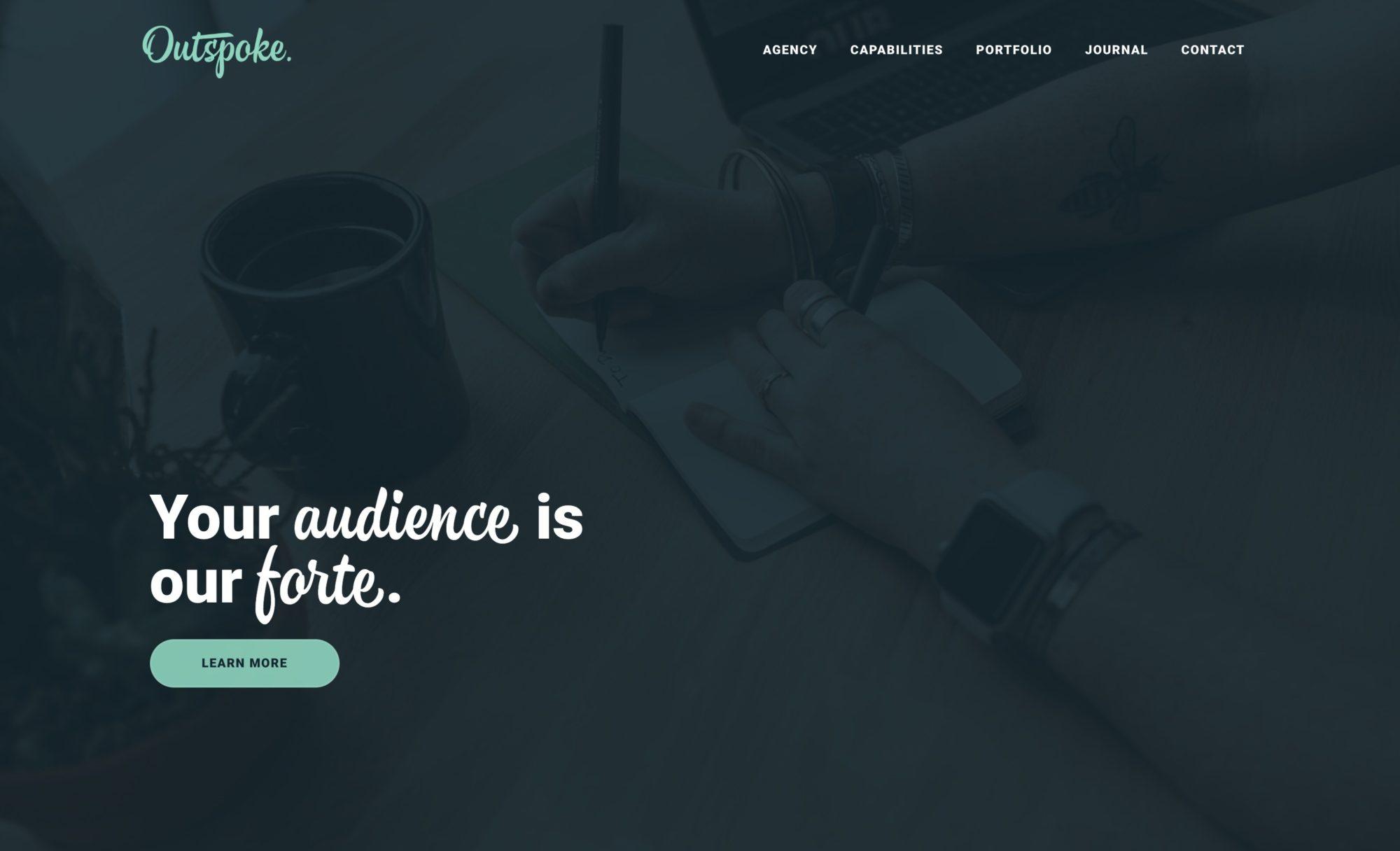 Outspoke Agency - Marketing website inspiration