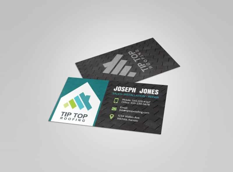 Roofing Business Card - Tip Top Roofing