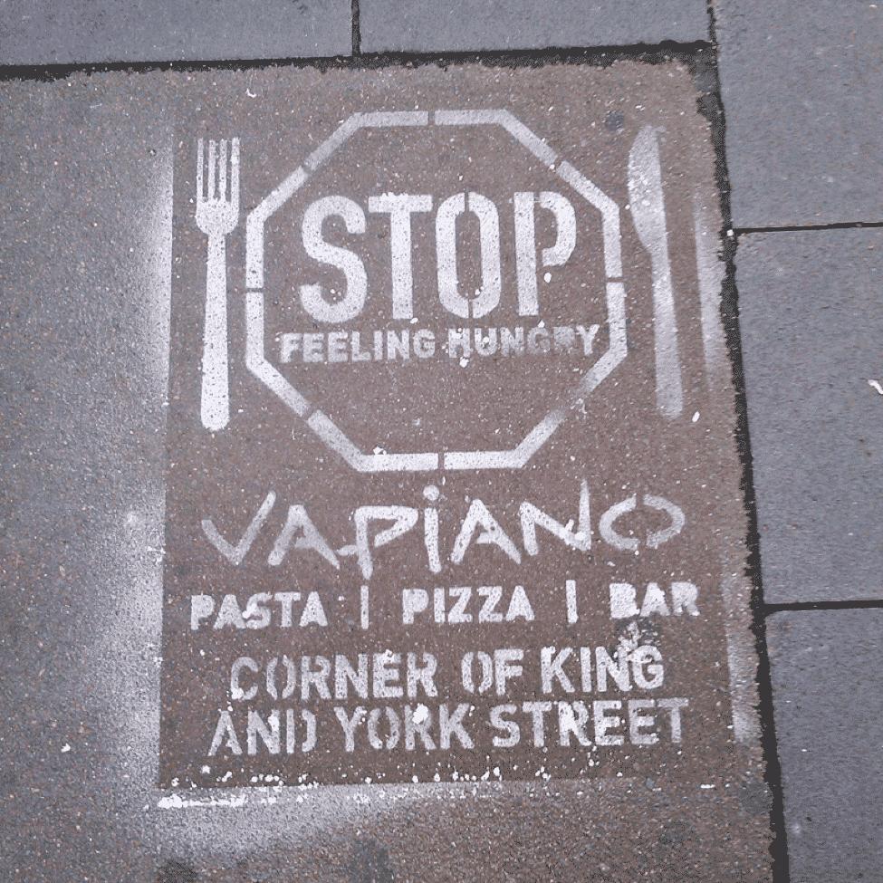 Spraypaint - sidewalk