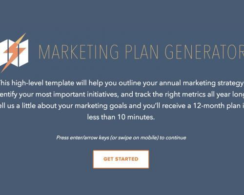 Free Marketing Plan Generator - Hubspot