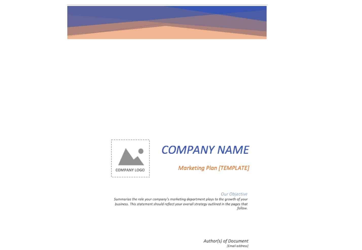 Free Marketing Plan Word Document