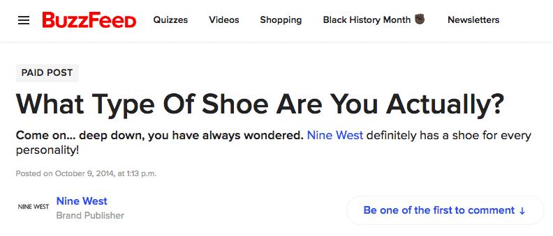 buzzfeed shoe quiz