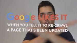 Force Google Re-crawl