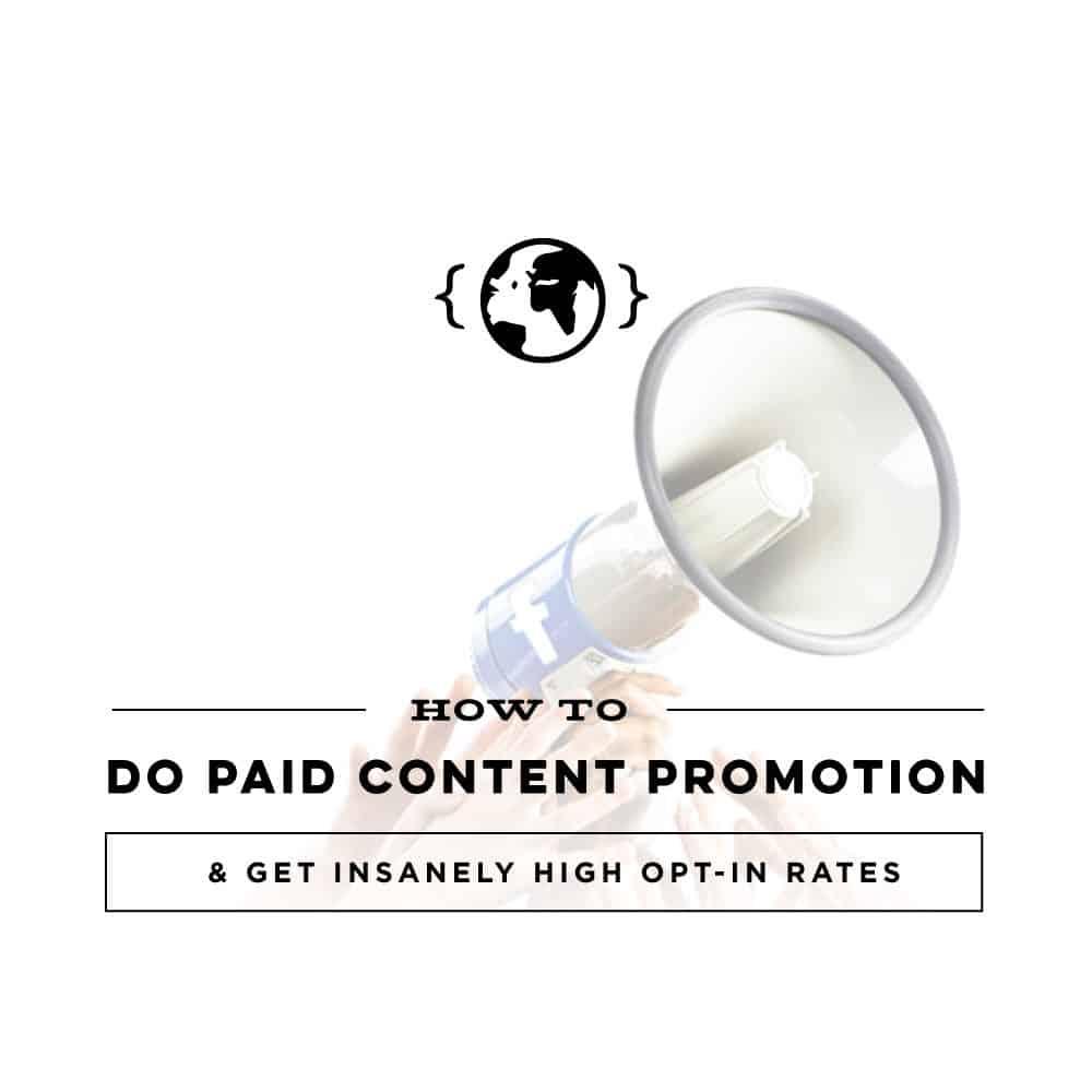 Paid Content Promotion
