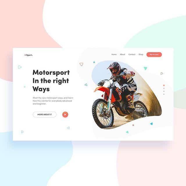 pastel-web-design-example-motorbike-contrast-white-space
