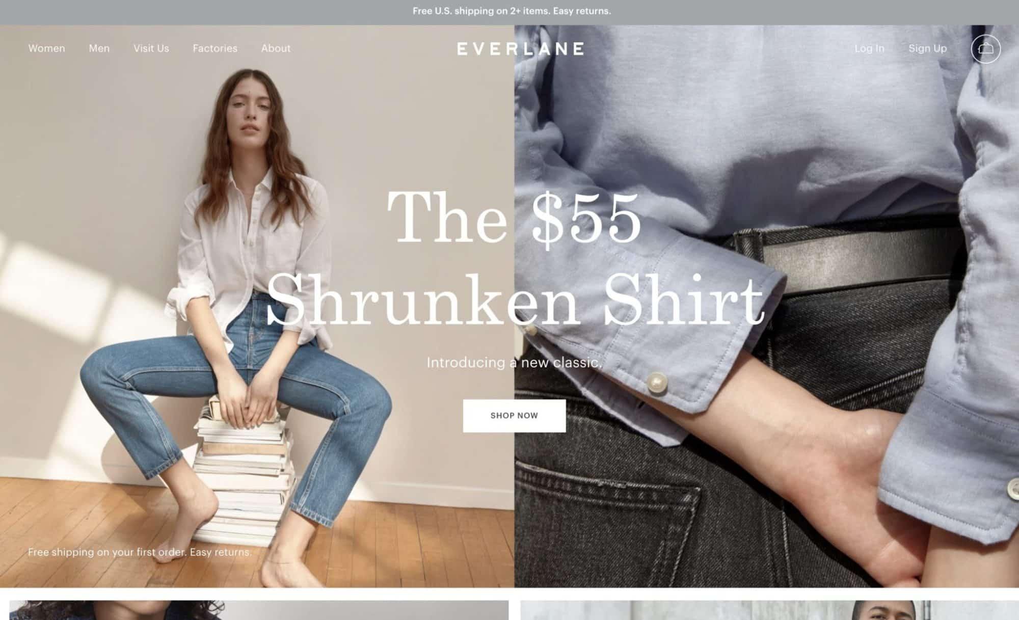 Everlane - Modern Website Design