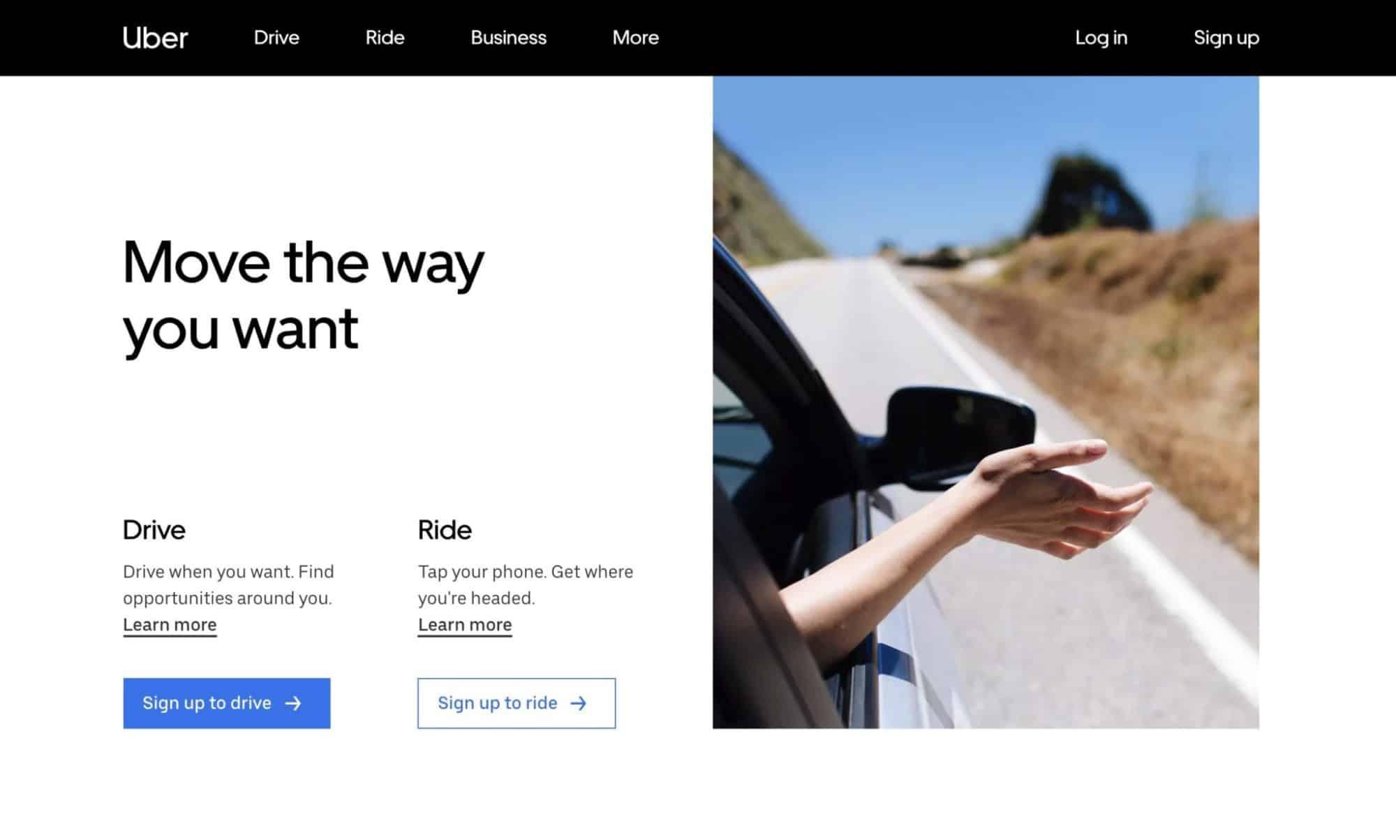 Uber - Modern Website Design