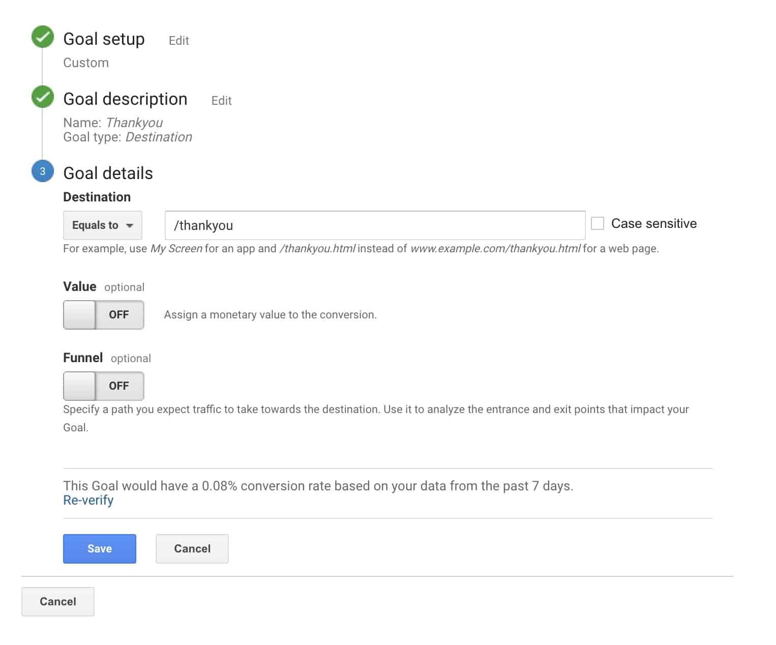 Tracking conversions - Google analytics basics