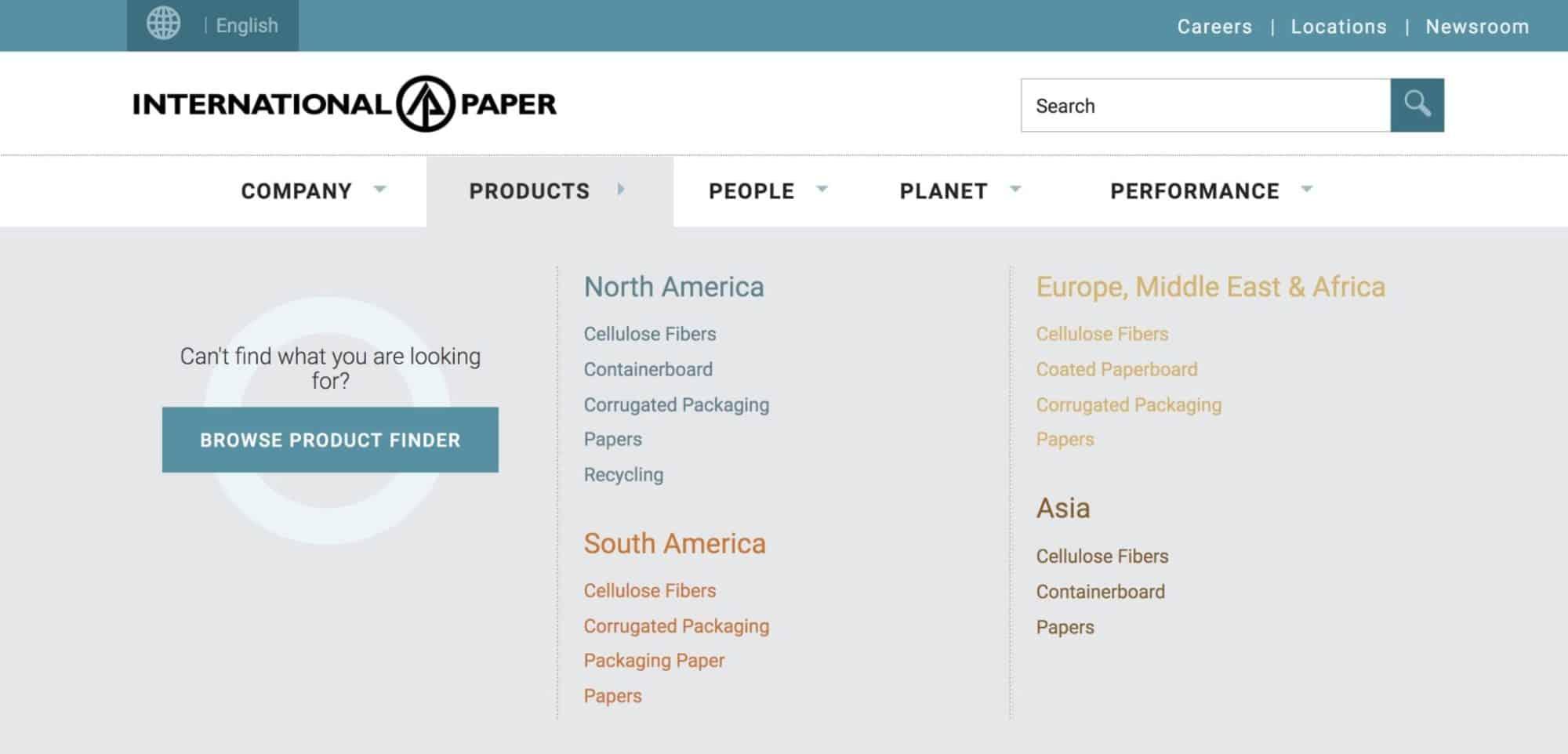 International Paper - Website Design manufacturing