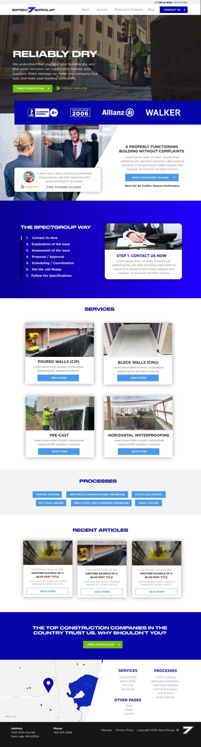 Waterproofing Web Design