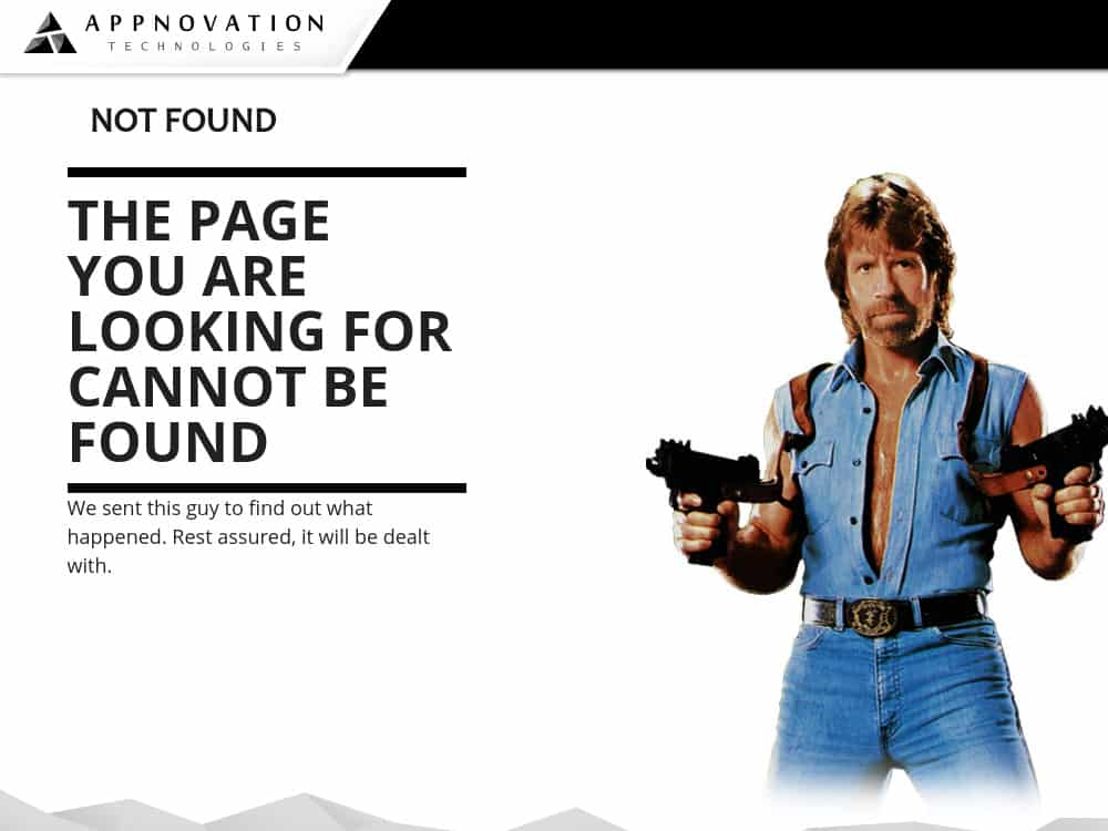 Chuck Norris 404 Page - Funny Hilarious 404 Page