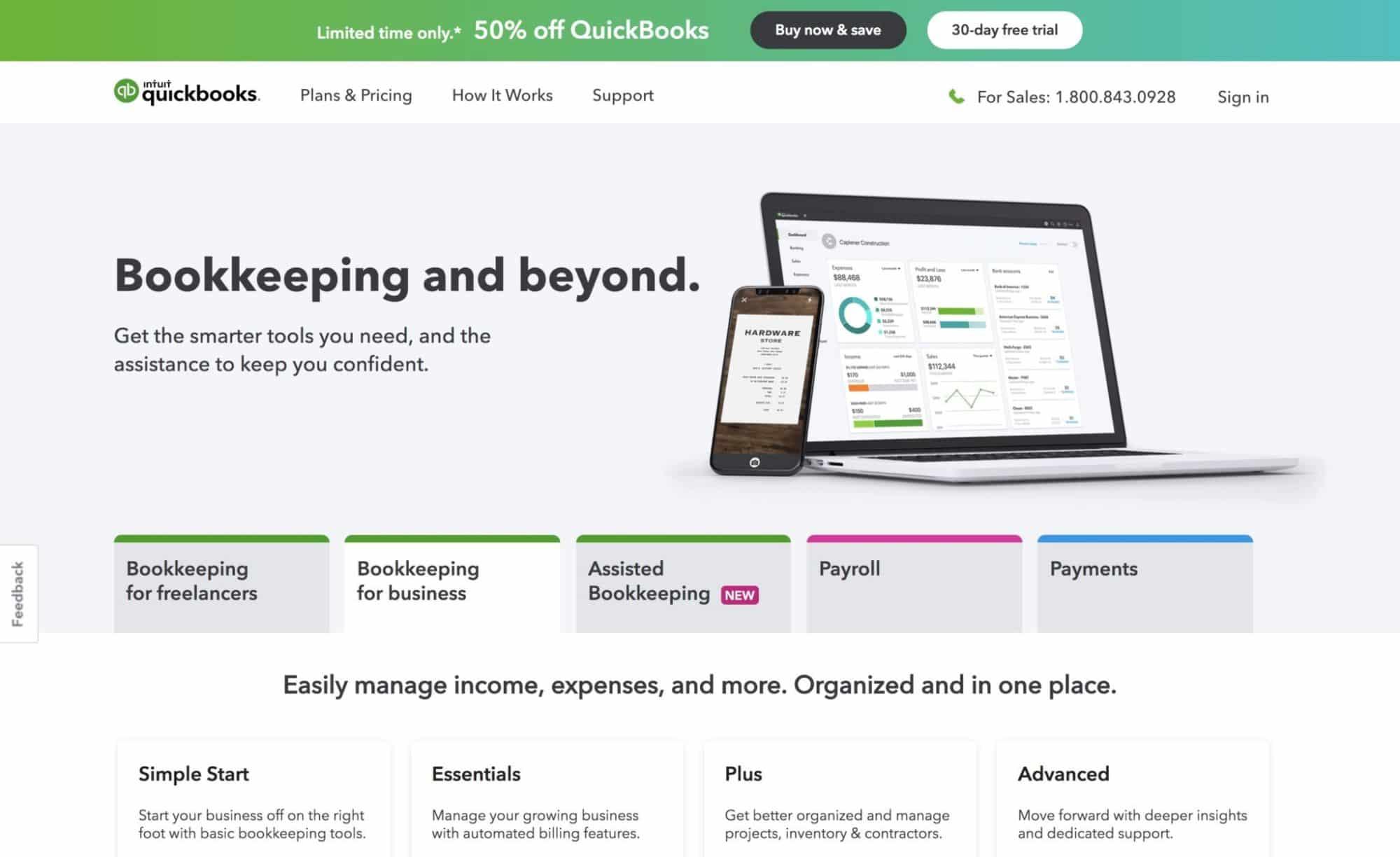 Quickbooks Marketing - Website Design for Technology, Financial SAAS B2B Companies