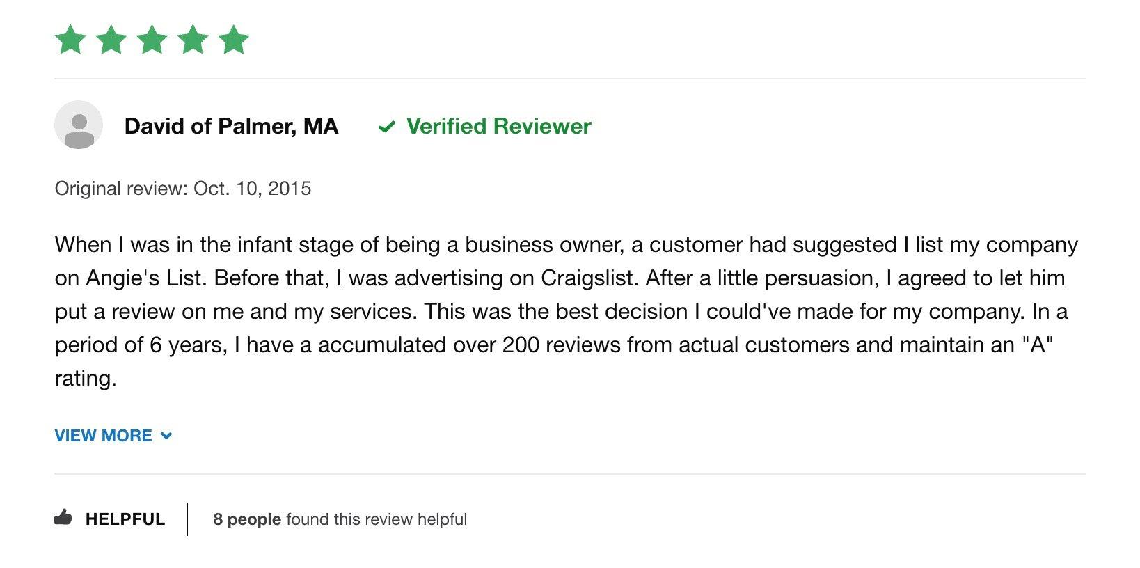 Angieslist reviews