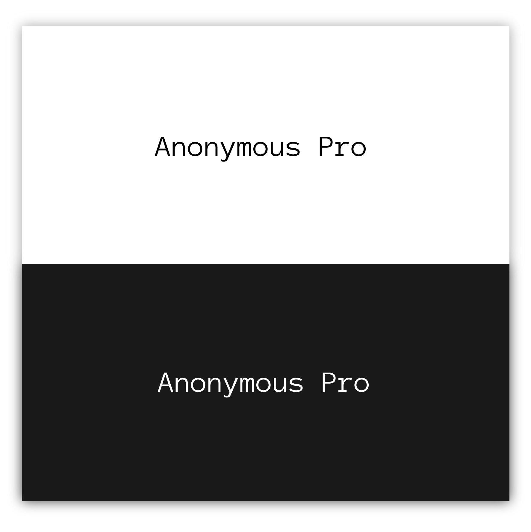 Anonymous Pro Font