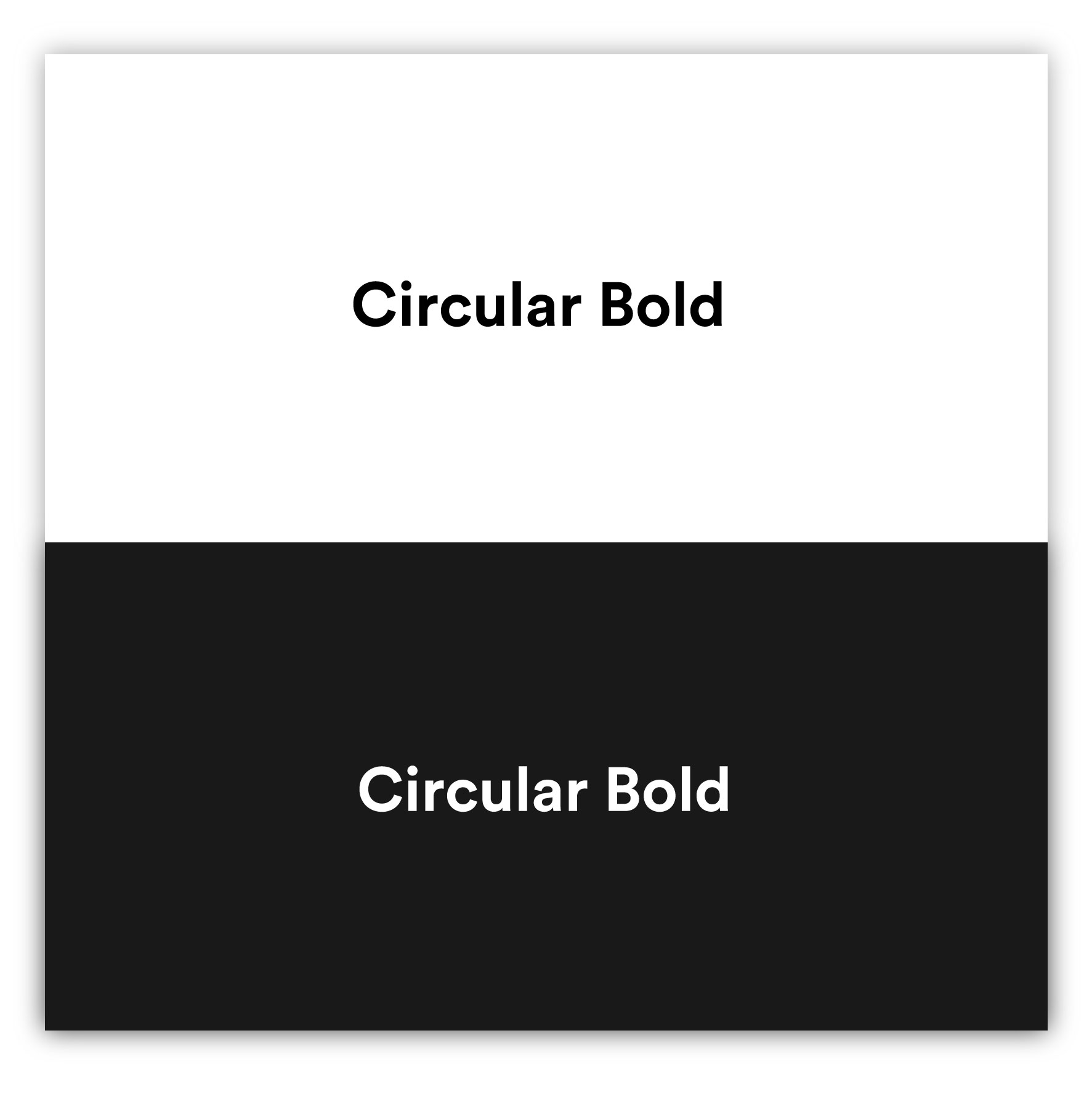 Circular Bold - Best fonts of 2020