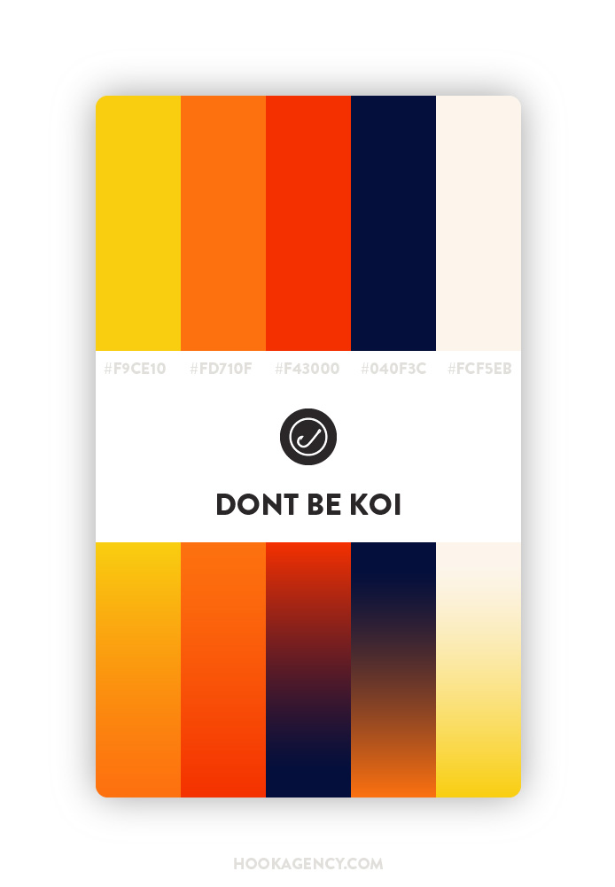 Koi Fish Color Palette 2020