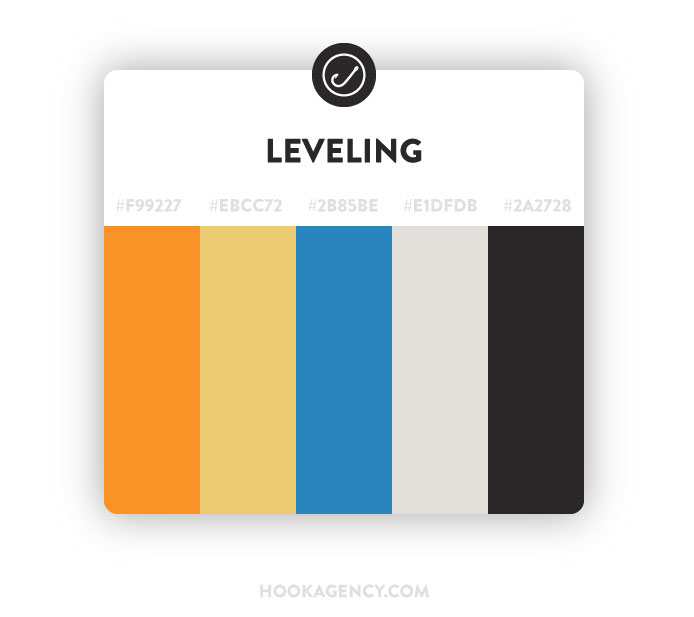 Leveling, Comfortable Color Pallette Scheme